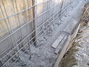 Foundation Wall Repair Steel Post Encased